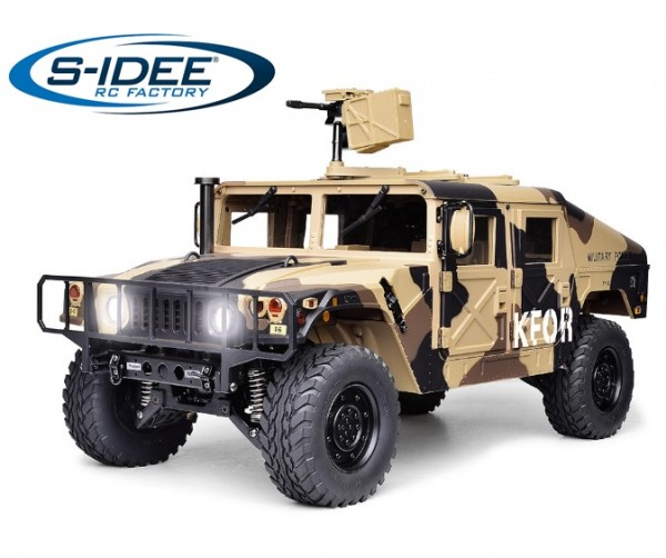 s-idee® HG P408 camouflage RC 1/10 2.4G 4WD 16CH 30 km/h Rc Model Car U.S.4x4 Military Vehicle Truck