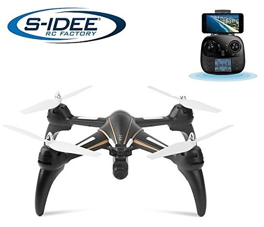 s-idee® 17106 S393 Wifi Drohne HD Kamera FPV Quadrocopter Höhenstabilisierung, One Key Return, Comin