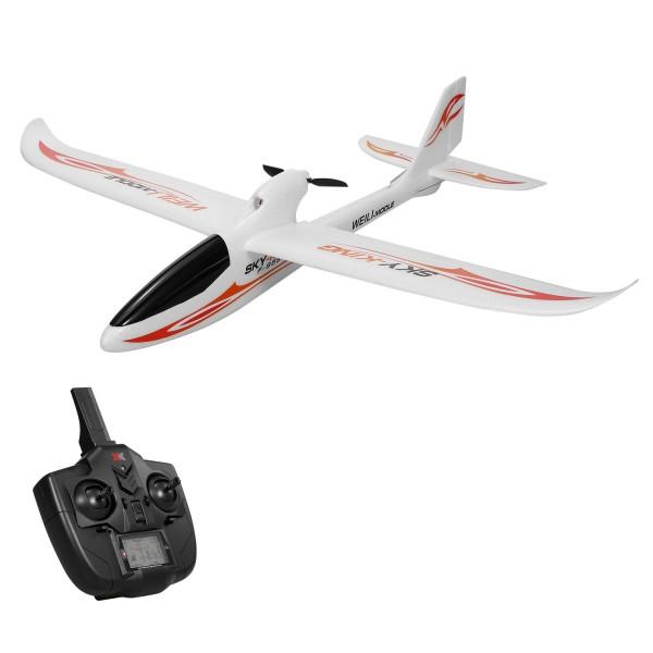 s-idee® 01654 Flugzeug F959S Sky King ferngesteuert mit 2.4 Ghz Technik mit Lipo Akku