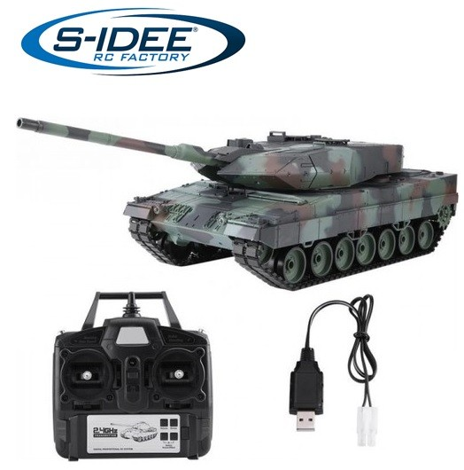 s-idee® 3889-1 Upgrade Version German Leopard 2 A6 Panzer 1:16