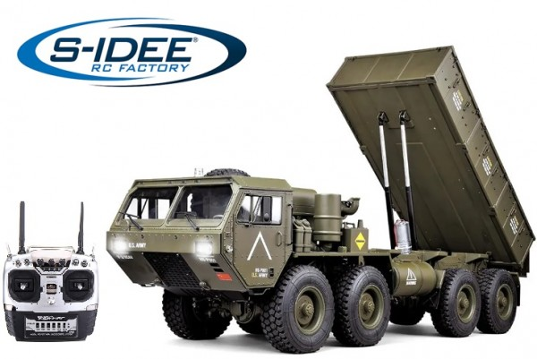 s-idee® HG-P803A grün mit Licht und Sound 8CH 1/12 2.4G 8x8 RC Military Vehicle Truck