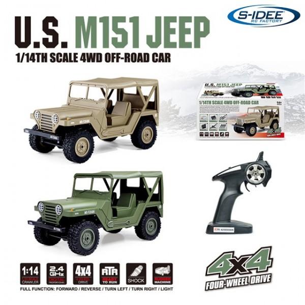 s-idee® S1522 1/14 4WD 2.4G Truck mit Beleuchtung ferngesteuert Militär Truck-
