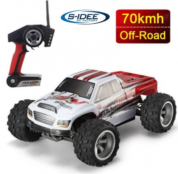 s-idee® 18108 A979-B RC Auto Buggy Monstertruck 1:18 mit 2,4 GHz 70 km/h schnell, wendig, voll digit
