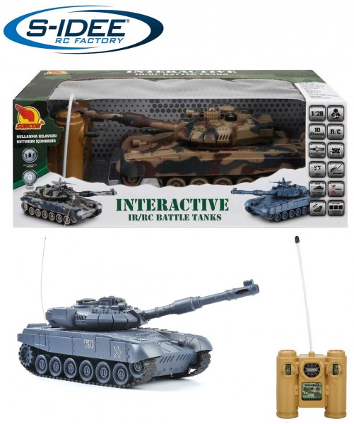 s-idee® Battle Panzer 99801 1:20 mit integriertem Infrarot Kampfsystem 2.4 Ghz RC R/C