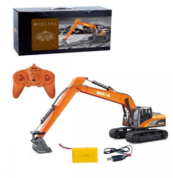 s-idee® S1551 Rc Schaufelbagger long arm 15 Kanal 1:14 mit 2,4 GHz schwenkbare Schaufel Licht Huina