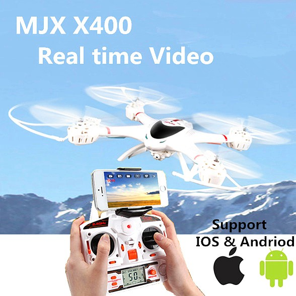 Quadrocopter X400 Wifi HD Kamera mit Tonaufzeichnung MJX One Key Return, Coming / Headless Mod 360°