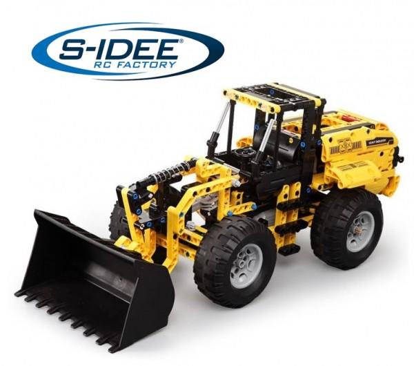 s-idee® C51058W 23022 RC Baustein Radlader mit schwenkbarer Schaufel