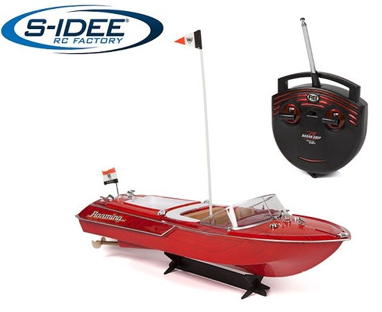 s-idee® 20003 Rc Yacht ferngesteuertes Venezia Boot in Riva Optik Motorboot