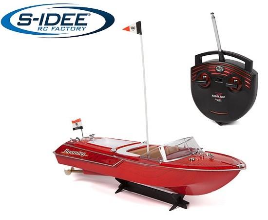 s-idee® 20003 Rc Yacht ferngesteuertes Venezia Boot in Riva Optik Motorboot