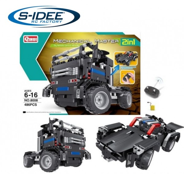 s-idee® 8008 RC Bausteinfahrzeug 2in1-Modell