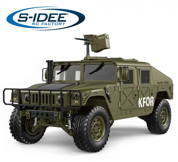 s-idee® HG P408 grün RC 1/10 2.4G 4WD 16CH 30 km/h Rc Model Car U.S.4x4 Military Vehicle Truck incl.