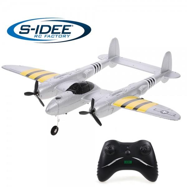 s-idee® FX816 P38 RC ferngesteuertes Flugzeug mit 2,4 GHz
