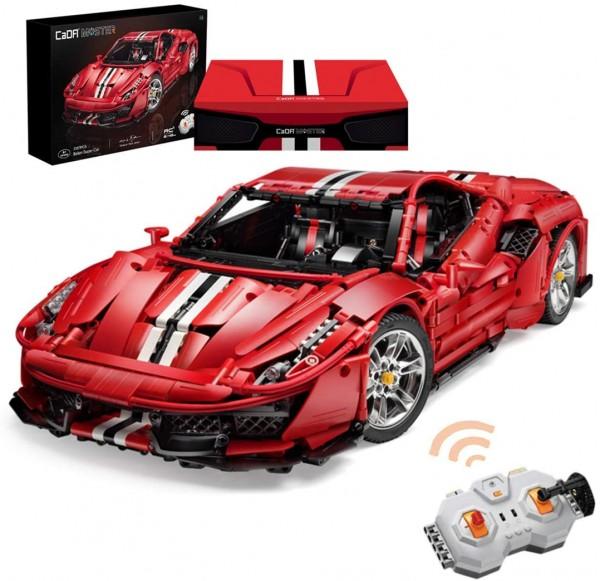 s-idee® Cada C61042W Bausteinfahrzeug RC Rennauto Sportscar mit Motor und Fernbedienung