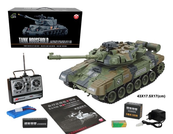 s-idee® RC Panzer YH4101E-7 Russian T-90 mit Airsoft-Feuerung 1:16 2.4 Ghz