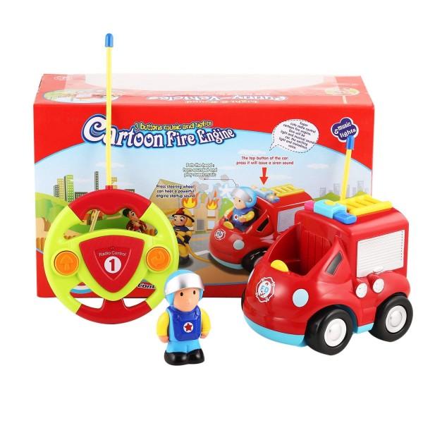 s-idee® 18166 RC Feuerwehrauto für Kleinkinder ab drei Jahren mit Musik und Lichteffekte Spielzeug A