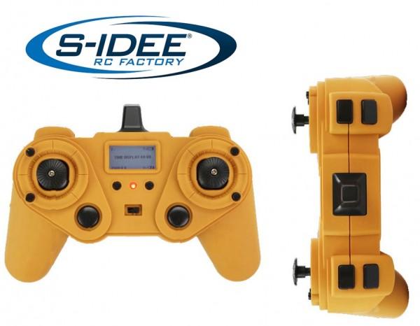 s-idee® Sender Fernsteuerung Vollmetall Bagger 1:14 Huina 1580 580 Metallbagger