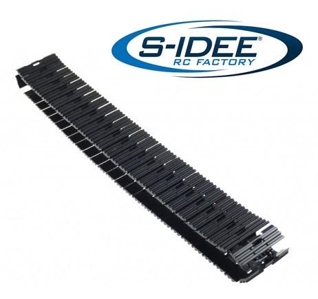 s-idee® 1 Satz Metallketten für Vollmetall Bagger 1:14 Huina 1580 580 Metallbagger