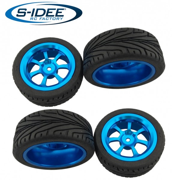 s-idee® Reifen mit Aluminiumfelgen Zubehör Ersatzteil für RC-Modell A959 A959-A A959-B A979-B