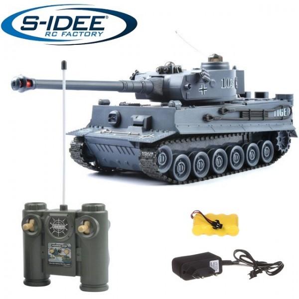 s-idee® 22002 Battle Panzer 99807 1:28 mit integriertem Infrarot Kampfsystem 2.4 Ghz RC R/C ferngest