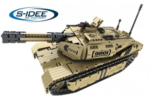 s-idee® 9801 RC Militär Bausteinpanzer mit Fernsteuerung Qihui 9801