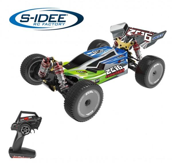 s-idee® 144001 grünblau 1:14 Off-Road RC-Buggy ferngesteuertes Auto mit 2,4 GHz