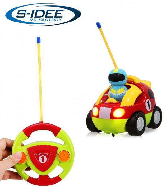 s-idee® 18165 RC Rennauto für Kleinkinder ab drei Jahren mit Musik und Lichteffekte Spielzeug Au