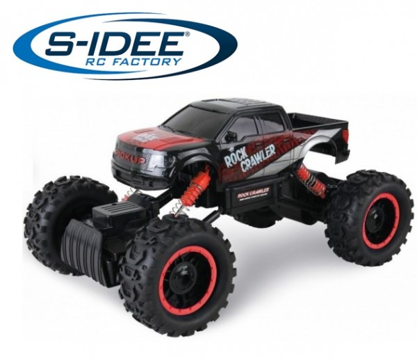 s-idee® 18152 Rock Crawler 1401 mit 2,4 GHz 4WD Buggy Monstertruck