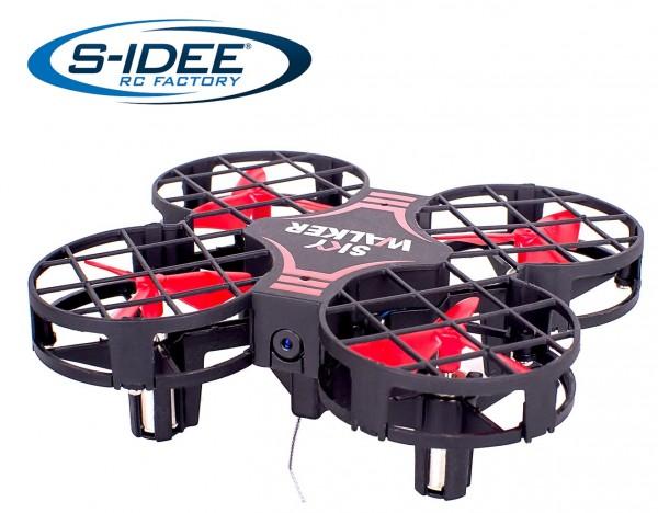 s-idee® 17127 S823W Rc Quadrocopter mit Wifi Übertragung, Rc Drohne mit Höhenstabilisierung
