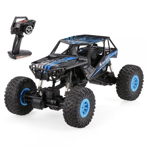 s-idee® 18100 1/10 Rock Crawler 10428-D mit 2,4 GHz 4WD Buggy Monstertruck