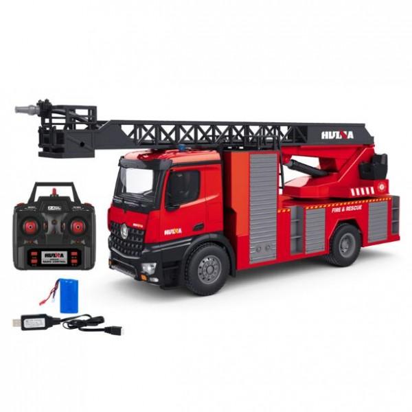 s-idee® S1561 Rc Feuerwehr Drehleiter 1:14 Lkw 12 Kanal Huina 1561