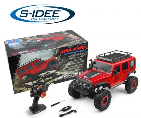 s-idee® WL 104311 RC Model Jeep Crawler RTR 1/10 2.4G 4WD 2CH 2,4 GHz