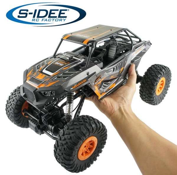 s-idee® 18101 1/10 Rock Crawler 10428-E mit 2,4 GHz 4WD Buggy Monstertruck Vollproportional