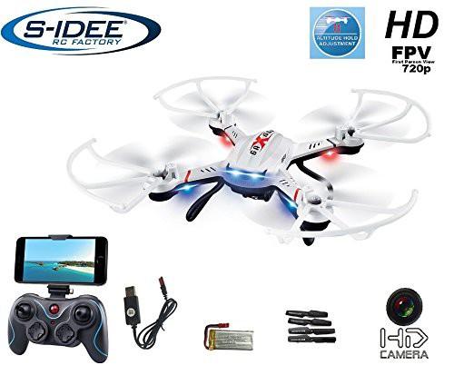 s-idee® 01603 Quadrocopter S181W Wifi Drohne FPV HD Kamera 4.5 Kanal 2.4 Ghz Drone mit Kamera Gyro 6