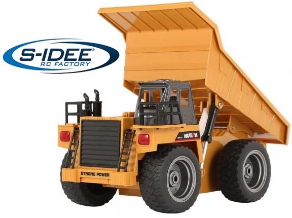RC LKW Muldenkipper s-idee® Huina 1332 RC Kipplader 6 Kanal 1:18 mit 2,4 GHz