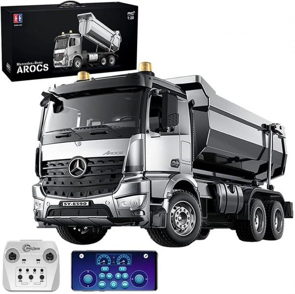 s-idee® E590-003 Mercedes Arocs Rc Dump Truck Metall Kipper 1:20 Lkw 4WD 10 Kanal Kipplader Double E