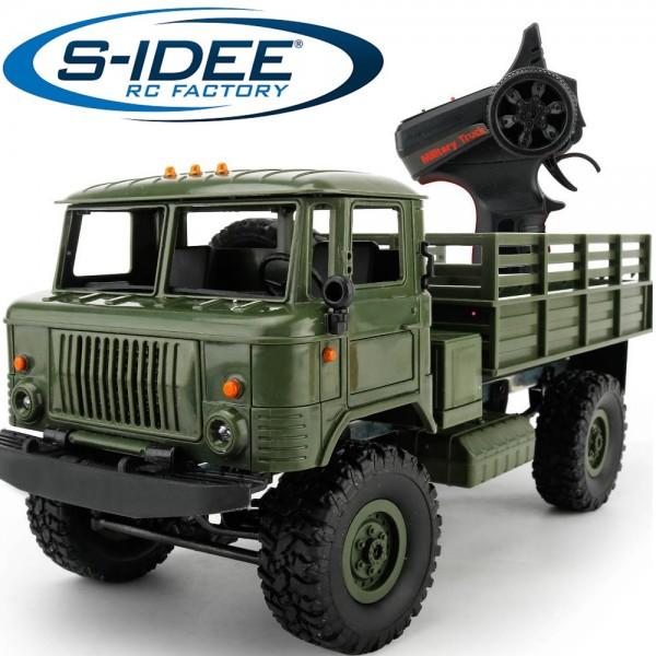 s-idee® Military Truck mit 2,4 GHz 4WD bis 10 km/h 1:16 1/16 GAZ 66