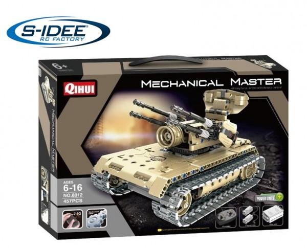 s-idee® 8012 RC Militär Bausteinpanzer mit Fernsteuerung