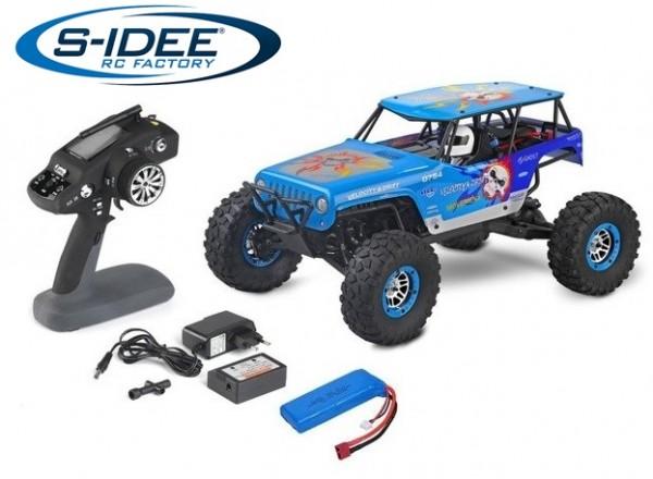 s-idee® WL 10428A RC Monstertruck 1:10 mit 2,4 GHz 30 km/h schnell Truggy Auto