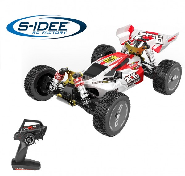 s-idee® 144001 rot 1:14 Off-Road RC-Buggy ferngesteuertes Auto mit 2,4 GHz
