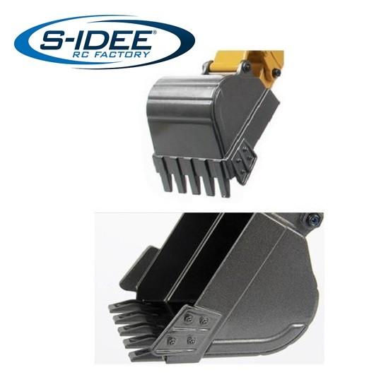 s-idee® Schaufel Metall Vollmetall Bagger 1:14 Huina 1580 580 Metallbagger