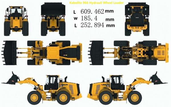 s-idee® Kabolite K996 Hydraulik Metall Radlader 1:14 Profi RC Modell Huina