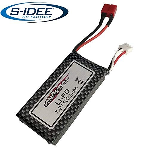 s-idee® 18181 7.4V 1600mAh Power LiPo Akku für RC Fahrzeuge 18173 1:10 S9125 Ersatzakku