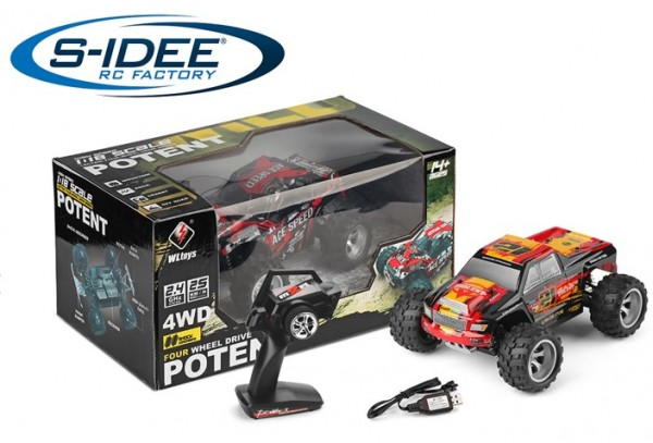 s-idee® 18402 High Speed RC Auto mit 2,4 GHz bis 25 km/h 1:28 Buggy