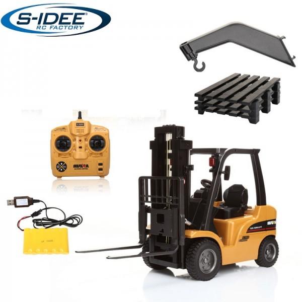 s-idee® S1577 Rc Gabelstapler & Kran 8 Kanal 1:10 mit 2,4 GHz Huina 1577