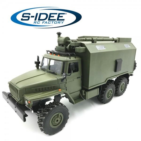 s-idee® B36 1/16 6WD 2.4G RC Truck mit Beleuchtung ferngesteuert Militär Truck