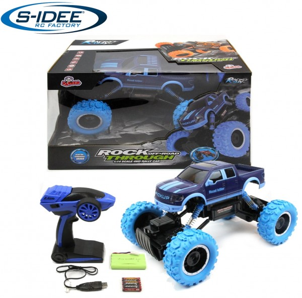 s-idee® HB-PY1401 1:14 Rock Off-Road Through 4WD Rally-Car mit 2,4 GHz